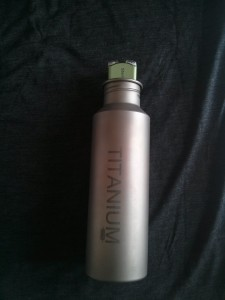 The mouth on the Vargo Titanium bottle is wide enough to accommodate the Steripen Freedom.