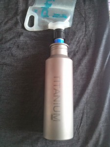 The Sawyer Mini screws onto the Platypus Plus water bottle, as well as most generic, store-bought plastic water bottles.