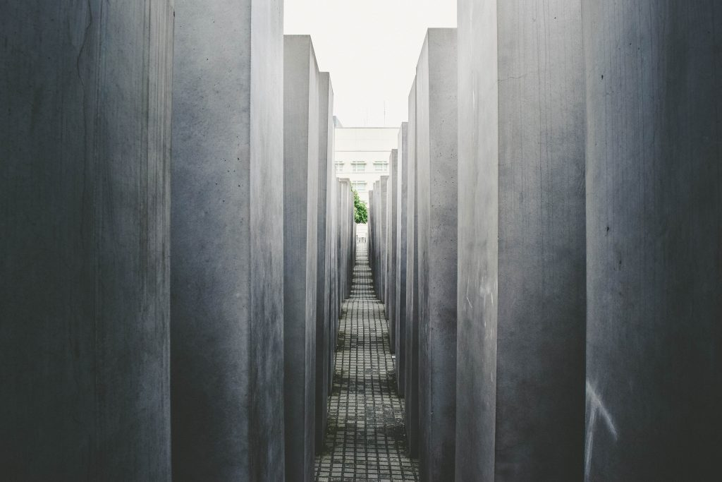 Concrete hallway